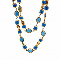 Vintage Chanel Blue Gripoix Necklace