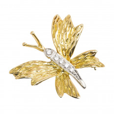 Vintage Tiffany & Co. 0.10 CTW Diamond Butterfly Brooch