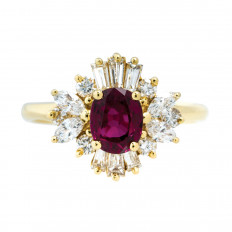 Vintage 1.13 CTW Ruby & Diamond Ring