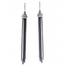 Vintage David Yurman 0.20 CTW Diamond Ice Tassel Earrings