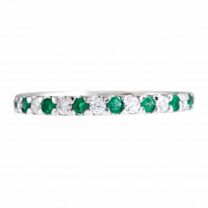 New 0.41 CTW Emerald & Diamond Anniversary Band