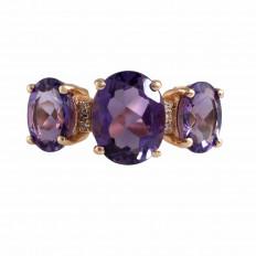 Vintage Lali 2.75 CTW Amethyst & Diamond Ring