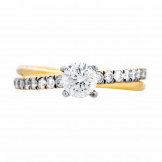 Vintage 0.80 CTW Diamond Crossover Braided Engagement Ring