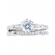 Vintage Simon G 1.39 CTW Diamond 'Vintage Explorer' Wedding Set