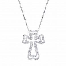 Vintage 1.83 CTW Diamond Cross Necklace