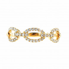 New 0.23 CTW Diamond Rope Ring