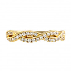 New 0.38 CTW Braided Diamond Band
