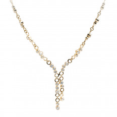Vintage 1.37 CTW Diamond Drop Necklace