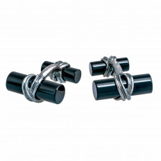 Vintage Tiffany & Co. Onyx Column Cufflinks