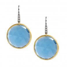 Vintage Marco Bicego 0.05 CTW Diamond & Blue Topaz Jaipur Earrings