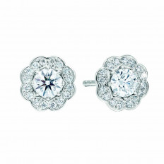 New Hearts On Fire® 0.98 CTW Diamond Lorelei Halo Stud Earrings