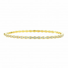 New Hearts On Fire® 1.00 CTW Diamond Lorelei Floral Bangle Bracelet