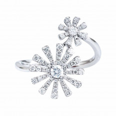 New Mémoire 0.47 CTW Diamond Margarita Flower Ring