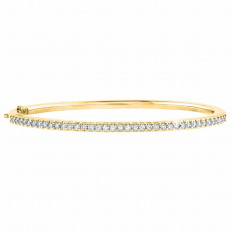 New Hearts On Fire® 0.77 CTW Diamond Bangle Bracelet