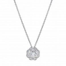 New Hearts On Fire® 0.36 CTW Diamond Lorelei Double Halo Necklace