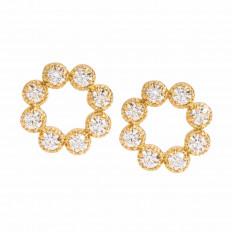 New Hearts On Fire® 0.31 CTW Diamond Liliana Circle Stud Earrings