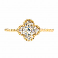 New Madison L 0.18 CTW Diamond Clover Ring