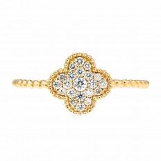 New Madison L 0.18 CTW Diamond Clover Ring