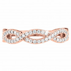 New Hearts On Fire® 0.31 CTW Diamond Destiny Twist Anniversary Band