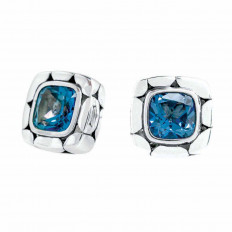 Vintage John Hardy Blue Topaz Stud Earrings