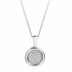 New Madison L 0.08 CTW Diamond Circle Necklace