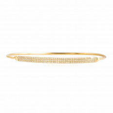 Vintage 0.69 CTW Diamond Bangle Bracelet