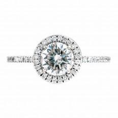 Vintage Simon G 1.49 CTW Diamond Engagement Ring