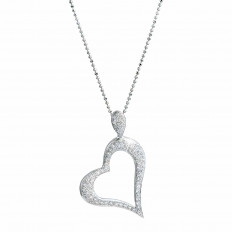Vintage 0.30 CTW Diamond Heart Necklace