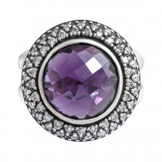 Vintage David Yurman 0.52 CTW Diamond & Amethyst Albion Ring