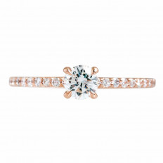 New 0.63 CTW Diamond Engagement Ring