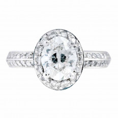 Vintage 2.11 CTW Diamond Halo Engagement Ring