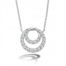 New Hearts On Fire 0.59 CTW Diamond Optima Circle Necklace