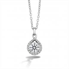 New Hearts On Fire 0.39 CTW Diamond Optima Drop Necklace