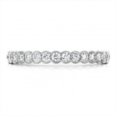 New Hearts On Fire 0.41 CTW Diamond Isabelle Bezel Anniversary Band