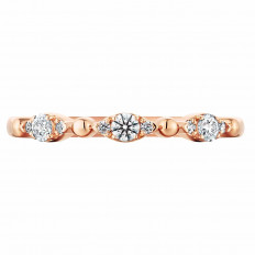 New Hearts On Fire® 0.16 CTW Diamond Beaded Regal Band