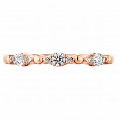 New Hearts On Fire® 0.16 CTW Diamond Beaded Regal Band