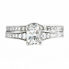 Vintage Sylvie 2.29 CTW Diamond Wedding Set