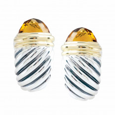 Vintage David Yurman Citrine Shrimp Earrings