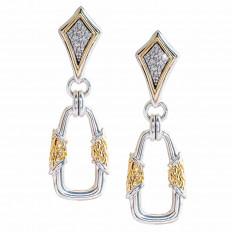 Vintage Scott Kay 0.12 CTW Diamond Drop Earrings
