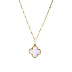 New Madison L 0.47 CT Mother-of-Pearl Clover Necklace