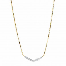 Vintage 0.70 CTW Diamond Boomerang Necklace