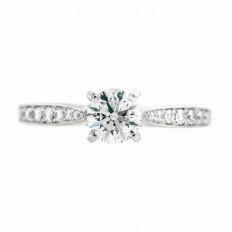 Vintage 1.25 CTW Diamond Engagement Ring