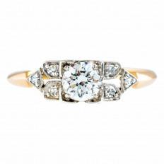 Vintage 0.48 CTW Diamond Engagement Ring