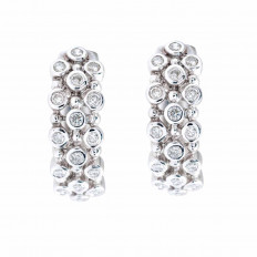 Vintage 0.32 CTW Diamond Hoop Earrings