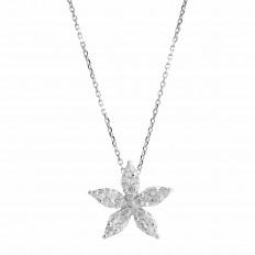 Vintage 0.50 CTW Diamond Flower Pendant