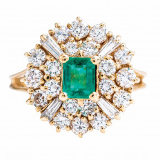 Vintage 1.70 CTW Emerald & Diamond Ring