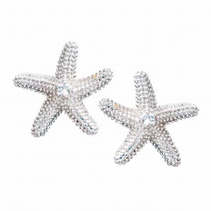 New Denny Wong 0.12 CTW White Sapphire Sea Star Stud Earrings