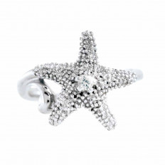 New Denny Wong 0.07 CT White Sapphire Sea Star Ring