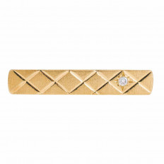 Vintage 0.10 CT Diamond Tie Clip
