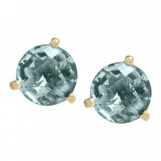 New 2.16 CTW Blue Topaz Stud Earrings